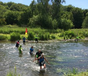 Crossing the river Ythan in the 2018 Ythan Challenge